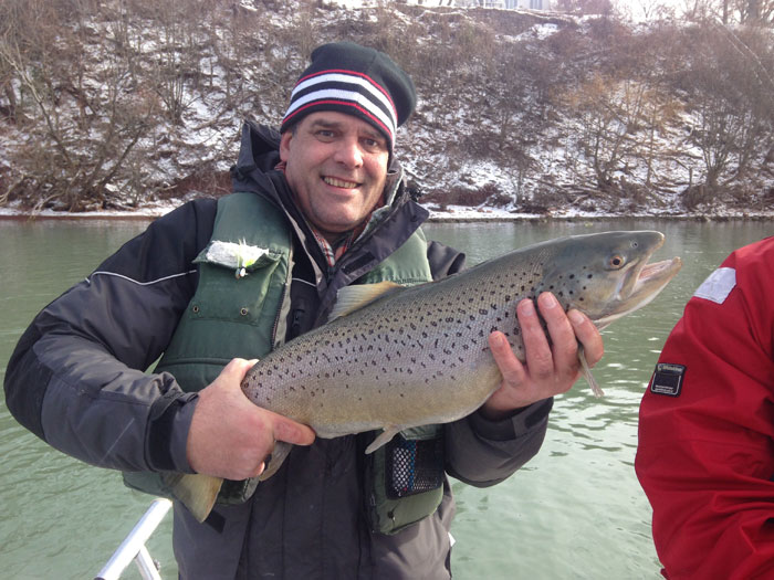 This trophy female migratory brown trout could not resist hitting a well presented egg-sack.