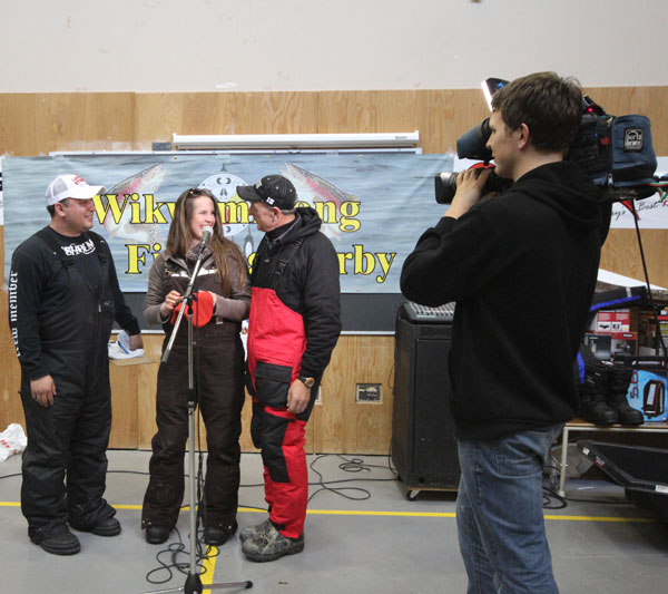 The 1st prize was taken by a female competitor that landed an 8 lb+ rainbows trout which won her a Polaris 400 ATV.