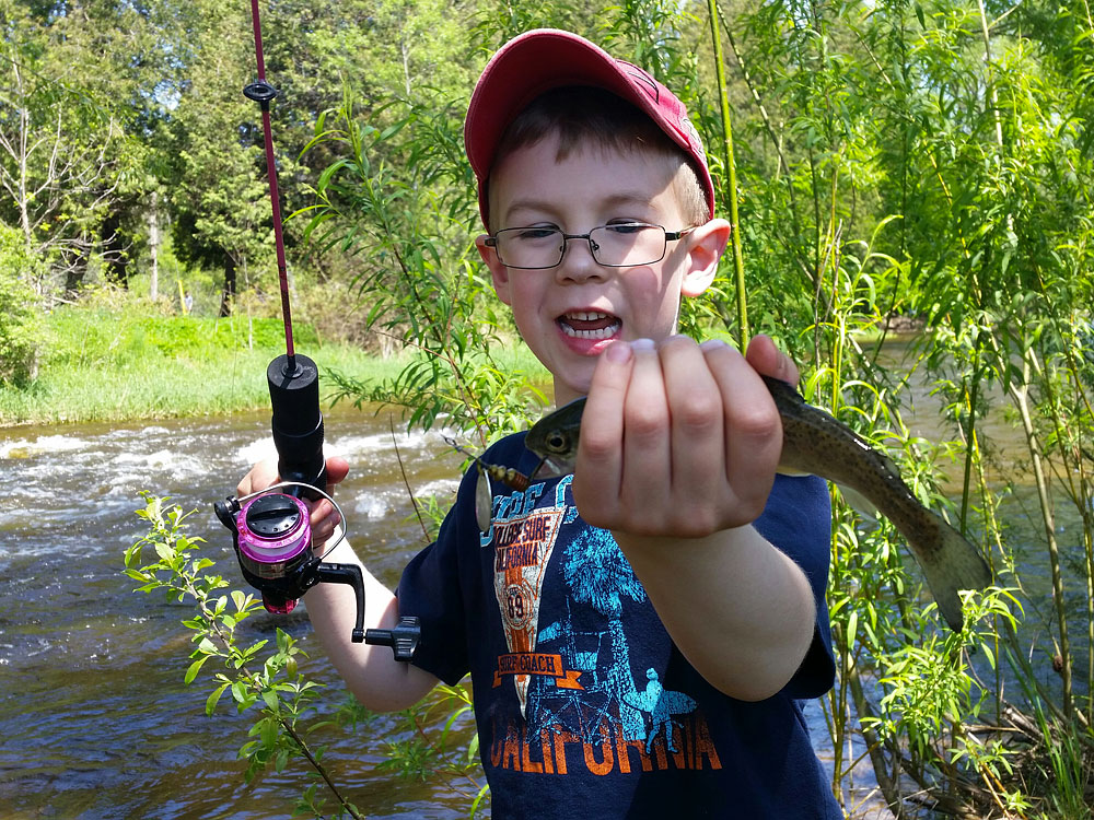 I love the excitement and passion my young son Brayden has for fishing!