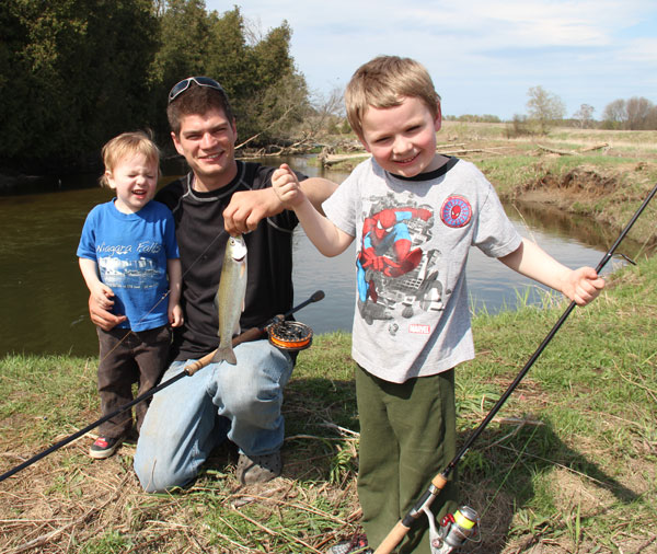 Small trout are lot's of fun, especially for kids to enjoy!