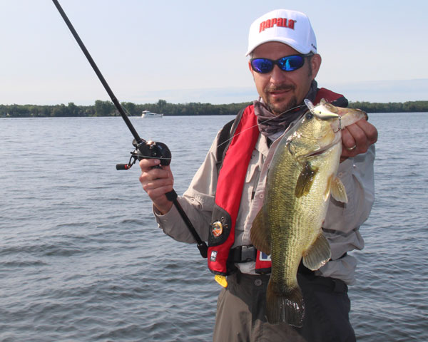 Tom McMurray landed this trophy largemouth fishing the Rapala Shift baitcasting outfit and the Rapala Dives To Thug.
