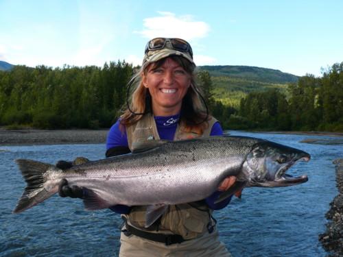 Another beautiful fall Coho (Silver) Salmon. Photo courtesy of Carla Paderni.