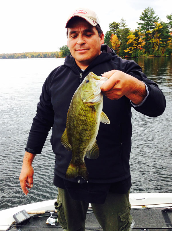 Duane landed this smallmouth that almost looks like a cross between a largemouth and a smallmouth bass!