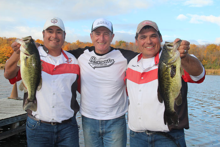 Pictured to my left, Michael Willams, and two my right, Duane Jacobs, both accomplished anglers and tournament fishermen!
