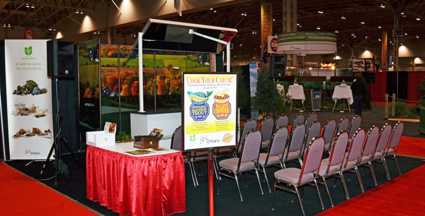 Take a seat at the Cook Your Catch stage and watch as Italo demonstrates how to properly clean and prepare walleye and trout.