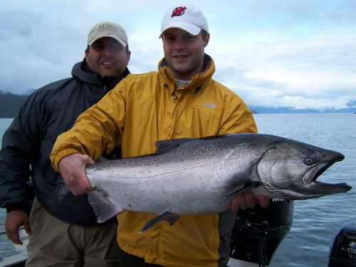 Chinook fishing in the Douglas Channel out of Kitimat is very good right now!