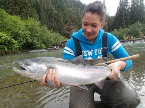 Now is the best time to target strong-fighting Coho salmon in the Terrace, BC tributaries.