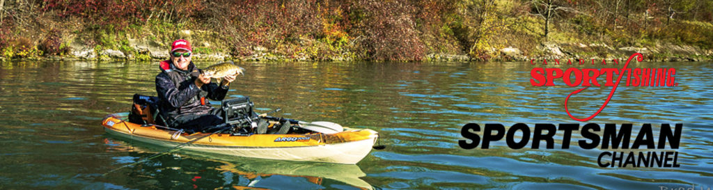 """NEW Canadian Sportfishing Series 35 Exclusive PRIEMERE, """"Bass & Pike Kayaking Action."""" 6:00pm, Mon., June 21, 2021, Sportsman Channel Canada"""