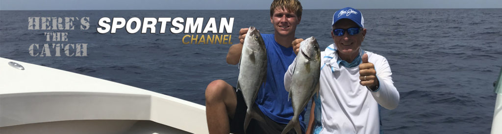 "NEW Here's the Catch! TV Series Exclusive PREMIERE, ""Gulf Almaco Jack Action."", 6:30 am, Mon., Aug.3, 2020, Sportsman Channel Canada."
