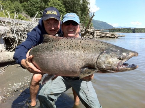 In the next few months, the Chinook salmon will start running up the Skeena River giving anglers a real challenge!