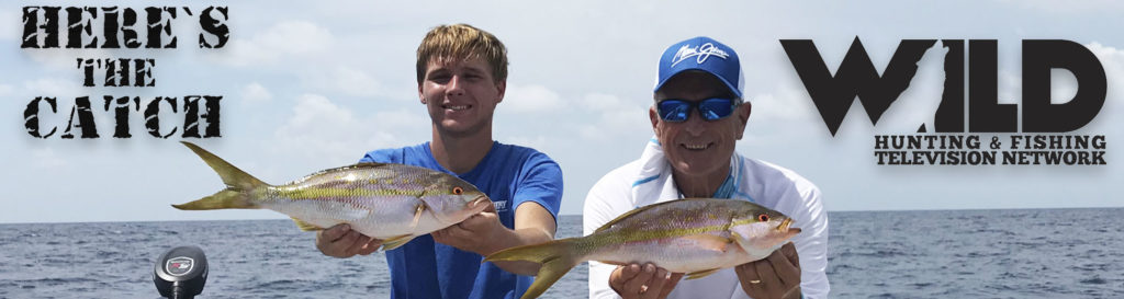 """Here's the Catch!"""" Series on WILD TV, """"Saltwater Yellowtail Snapper Action."""" 6:30am, Wed., Oct.27, 2021."""